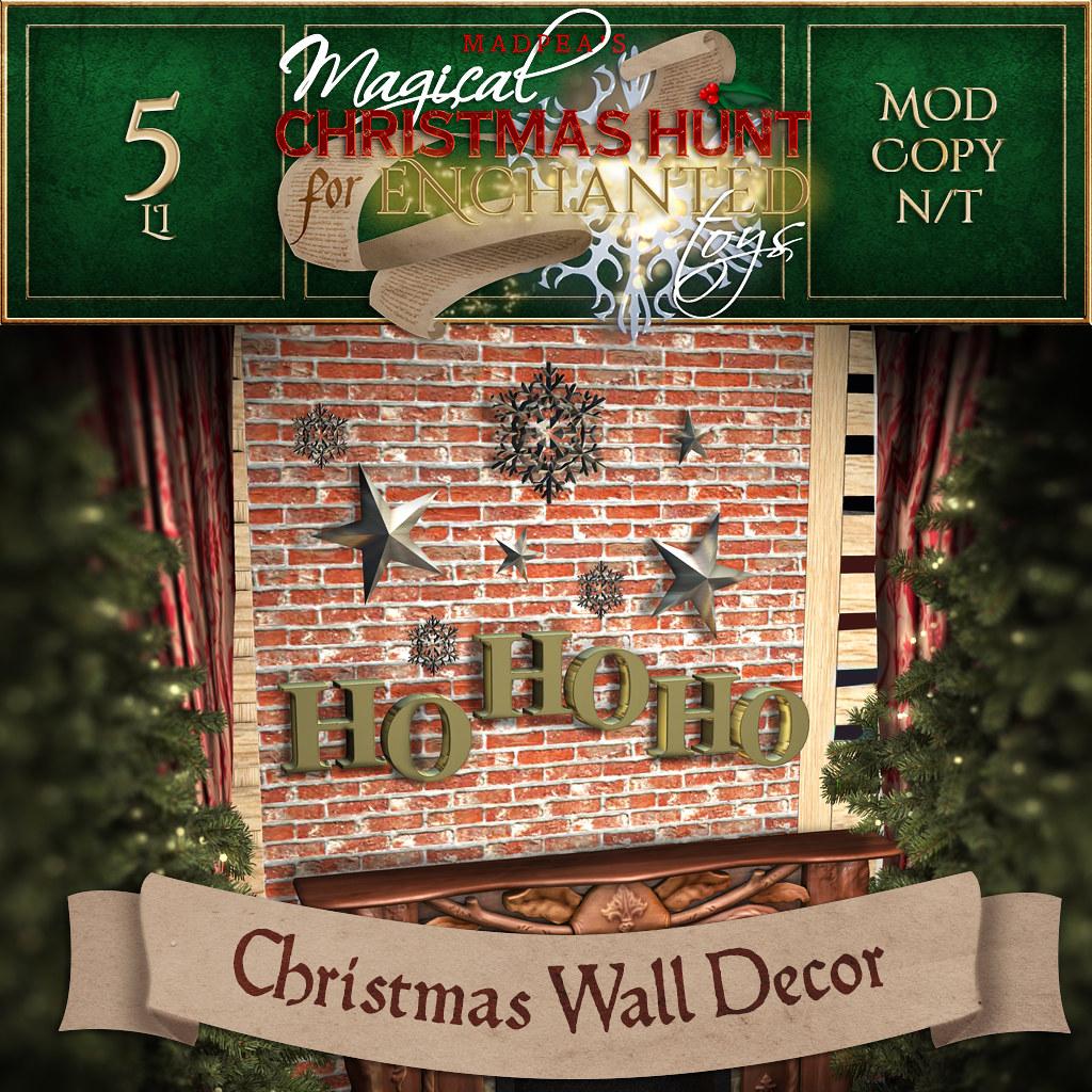 Christmas Wall Decor MadPea Christmas Hunt for Enchanted Toys Prize