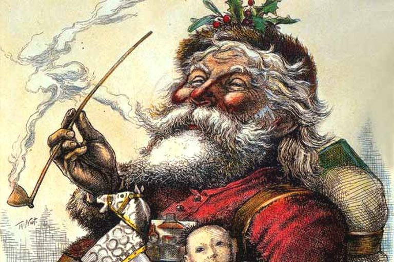 Portrait of Santa Claus, by Thomas Nast, Published in Harper's Weekly, 1881.