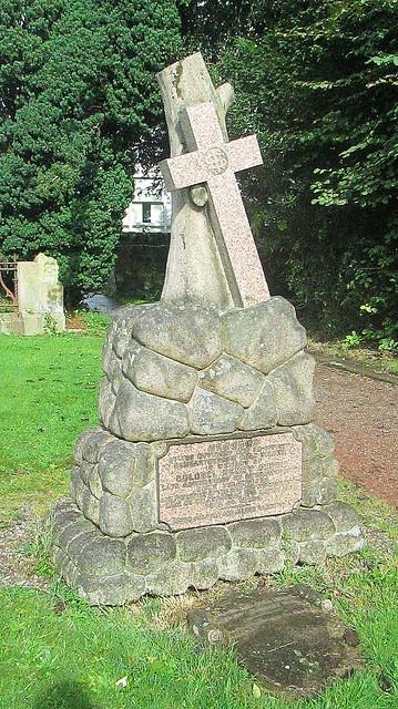 Unusual Commemorative Stone, Rhu churchyard