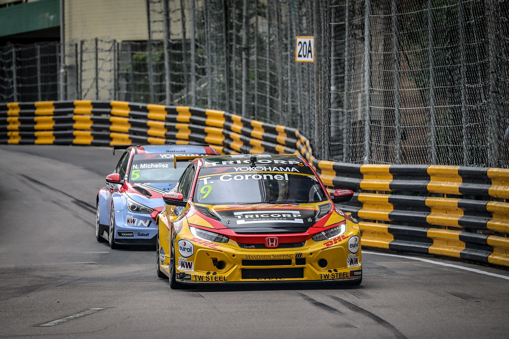 09 CORONEL Tom, (nld), Honda Civic TCR team Boutsen Ginion racing, action during the 2018 FIA WTCR World Touring Car cup of Macau, Circuito da Guia, from november  15 to 18 - Photo Alexandre Guillaumot / DPPI