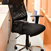 High back swivel chair with arms E75