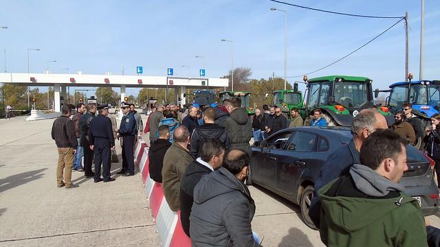 Αγροτoκτηνοτροφικό συλλαλητήριο στα διόδια του Ακτίου (2 Φλεβ. 2019)