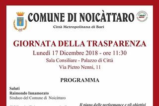Noicattaro. giornata della trasparenza front