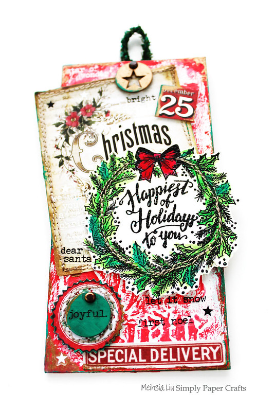 Meihsia Liu Simply Paper Crafts Mixed Media Tag Stitch It Up Tim Holtz Simon Says Stamp 2