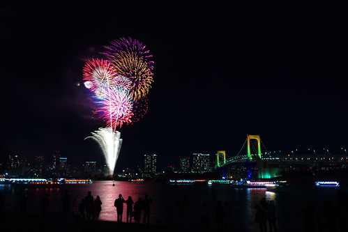 Odaiba Fireworks, Tokyo, Japan