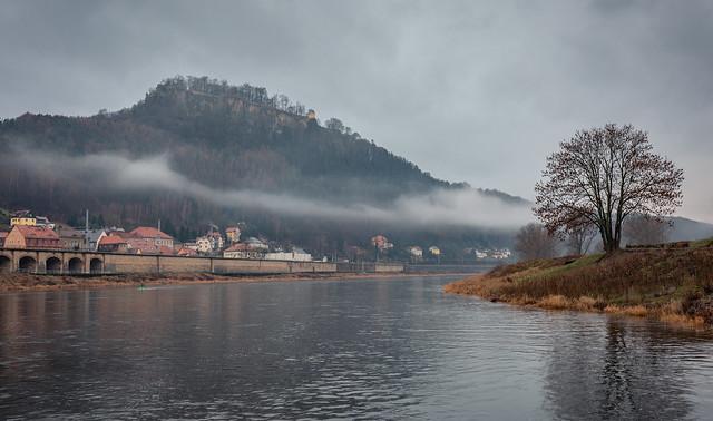 misty weather at Königstein