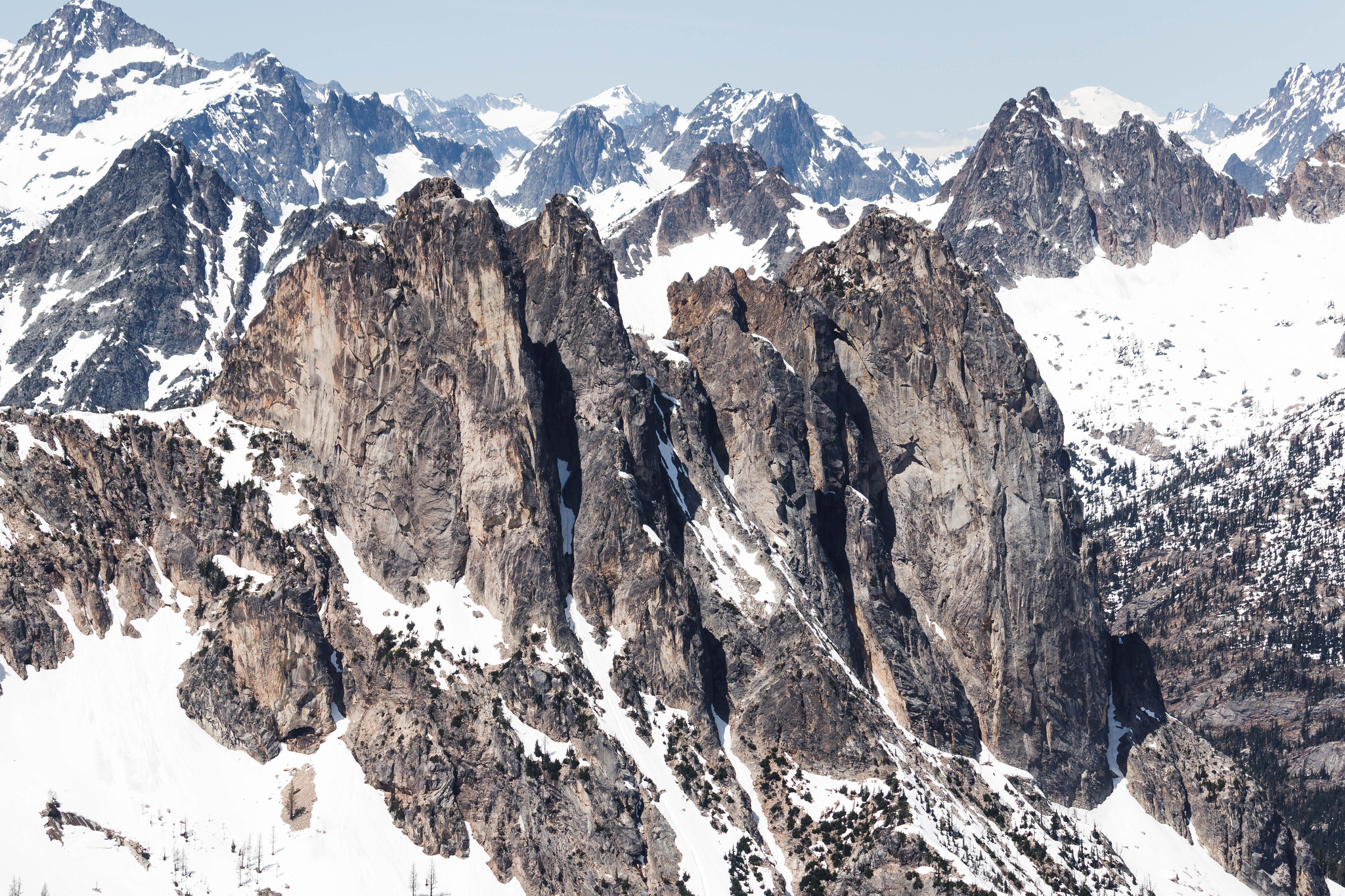 Early Winters Spires and Liberty Bell Mountain